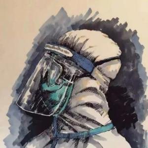 衡水五中:《 前行 ——致敬抗击肺炎的一线工作者》B部教师杜鹃