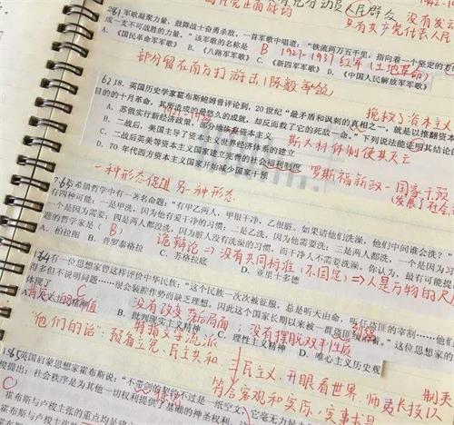 衡水中学学霸总结高中文科综合错题本整理技巧