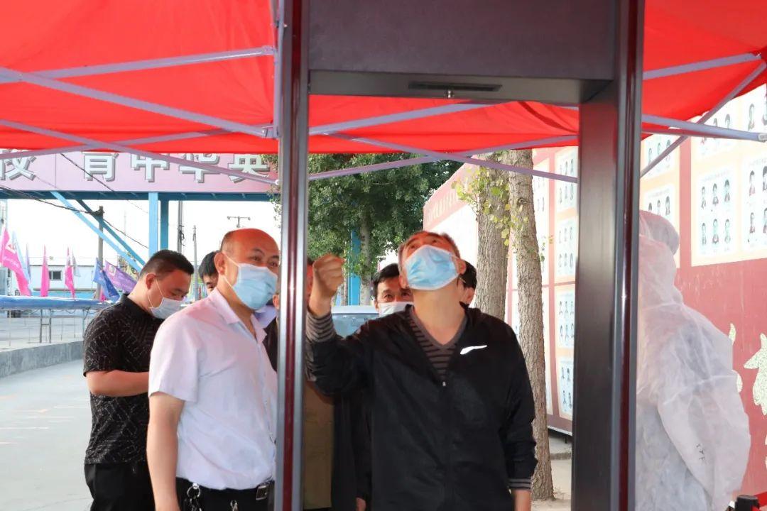 桃城区督查组到衡水顺平中学督查疫情防控和开学准备工作